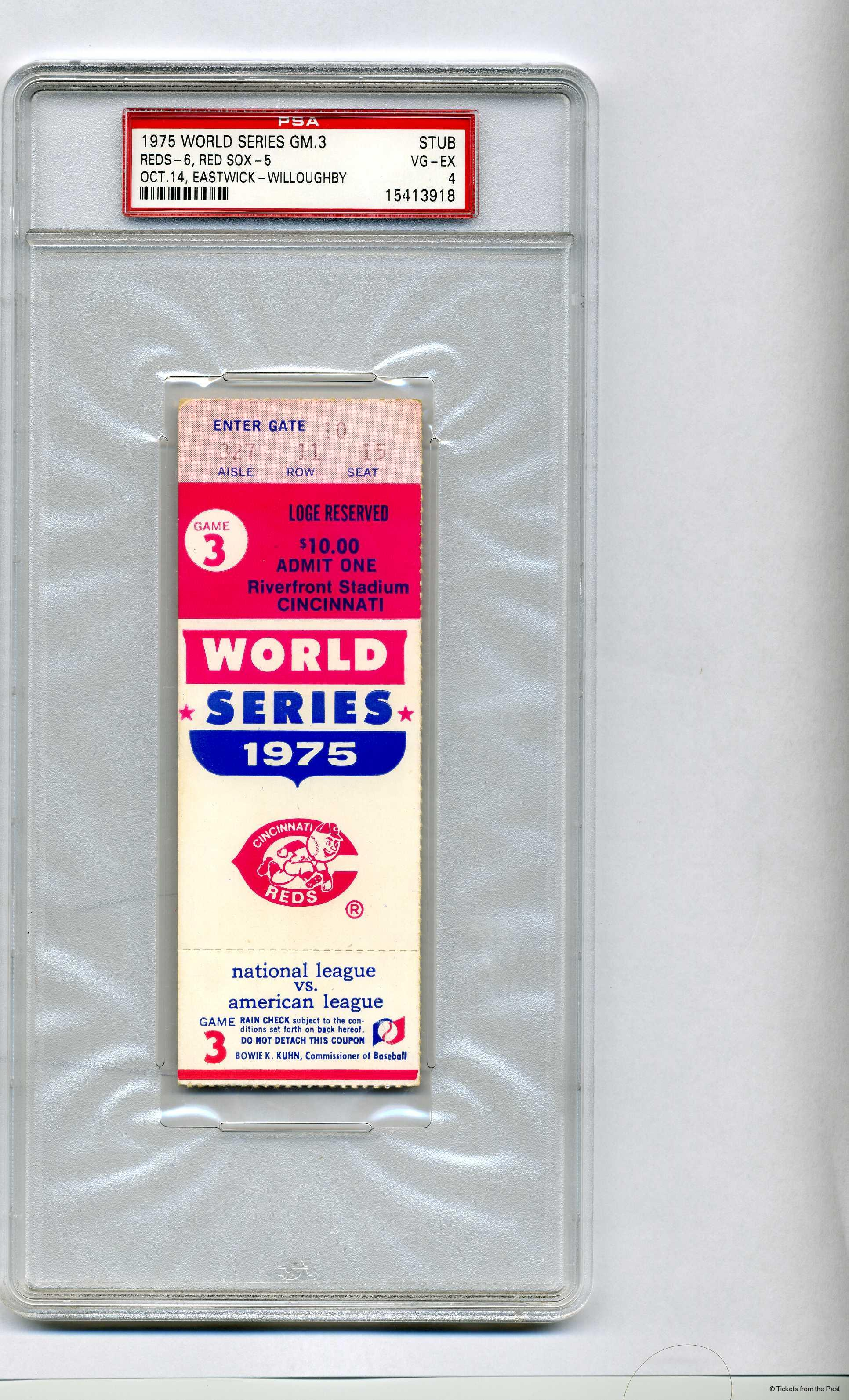 1975 World Series - Cincinnati Reds over Boston Red Sox (4 ...