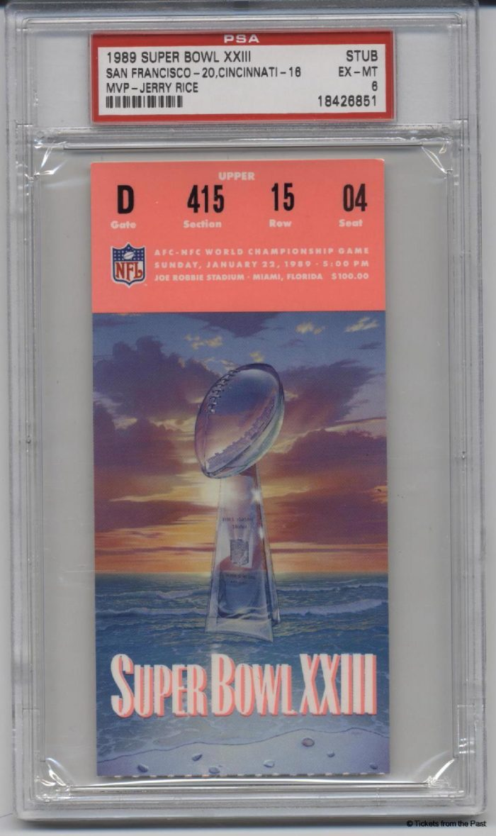 1989 Super Bowl Ticket