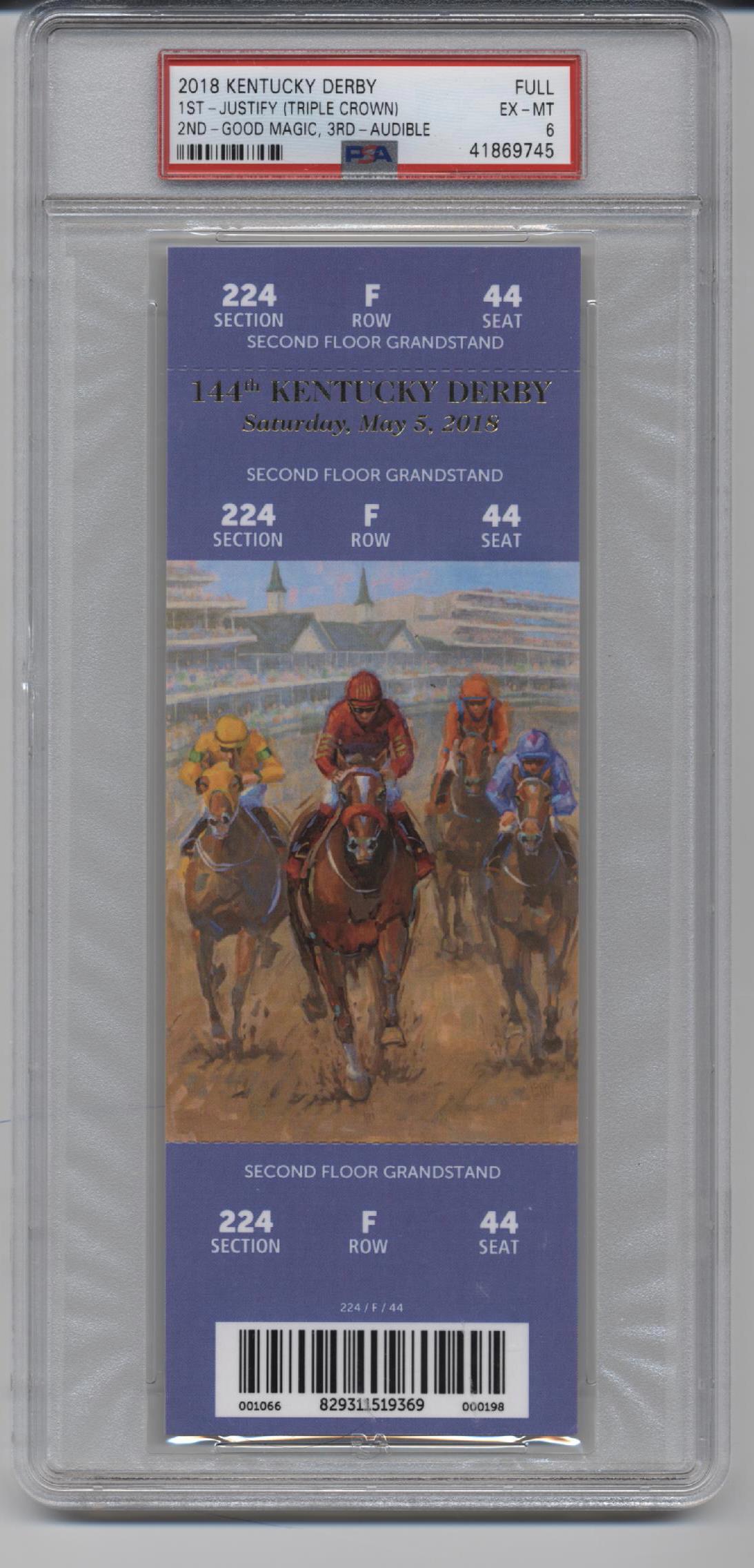 25 Kentucky Derby Ticket Full PSA 25